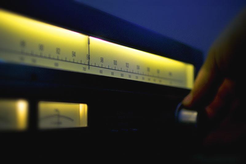 Turning radio dial