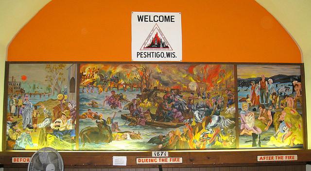 Peshtigo Fire mural