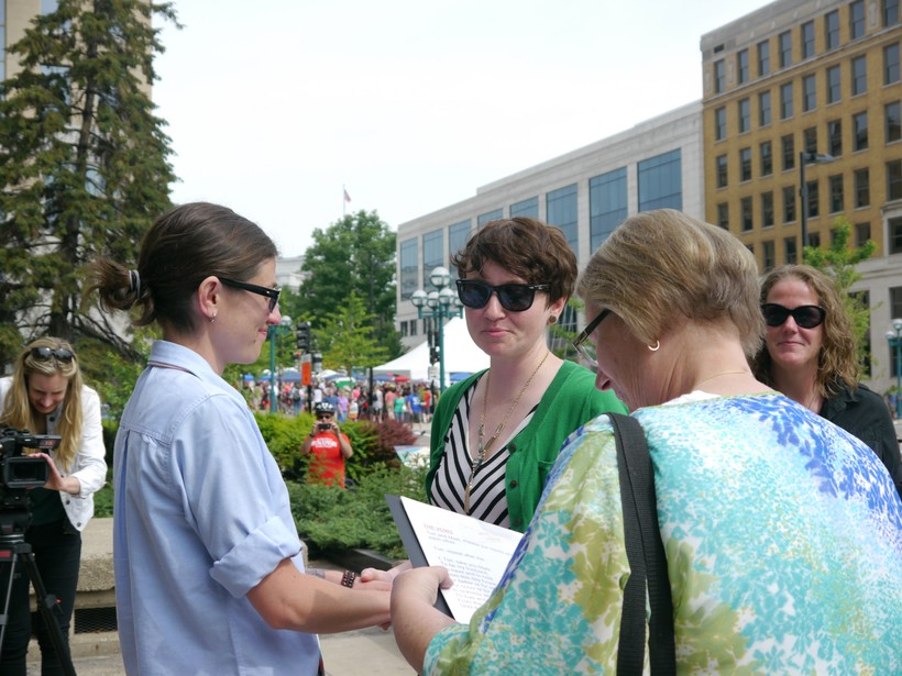 Two women marry in Dane County.