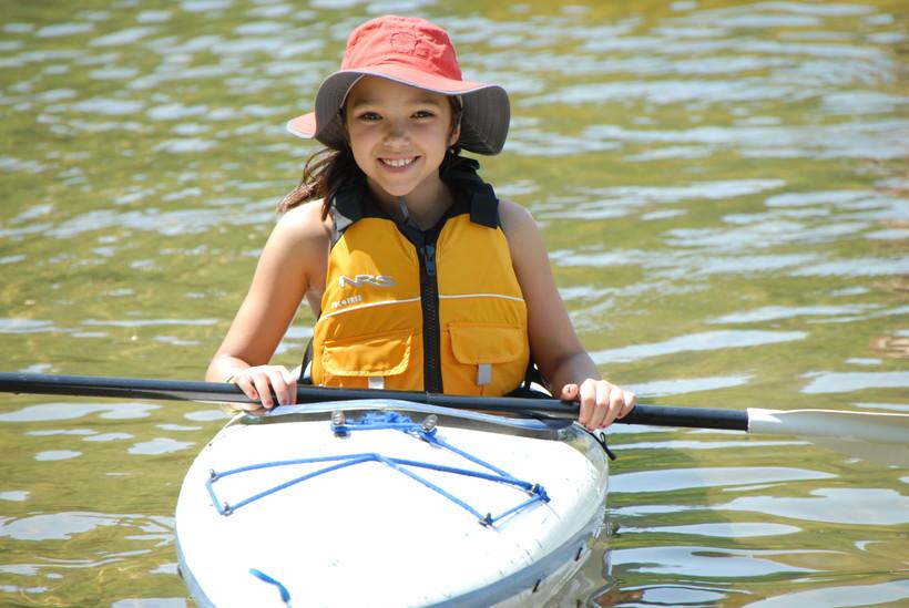 kayaking girl, Darren Bush