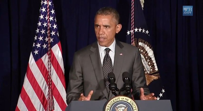 President Obama speaks on humanitarian crisis