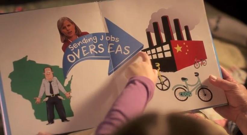 "Screenshot from Gov. Walker's ""Fortune"" ad"
