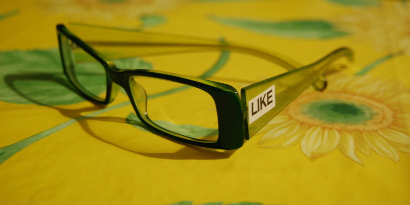 """Glasses with word """"Like"""""""