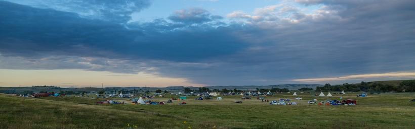 Encampment near North Dakota's Standing Rock Sioux reservation
