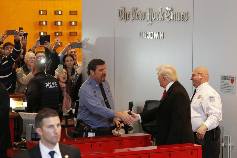 Donald Trump at New York Times