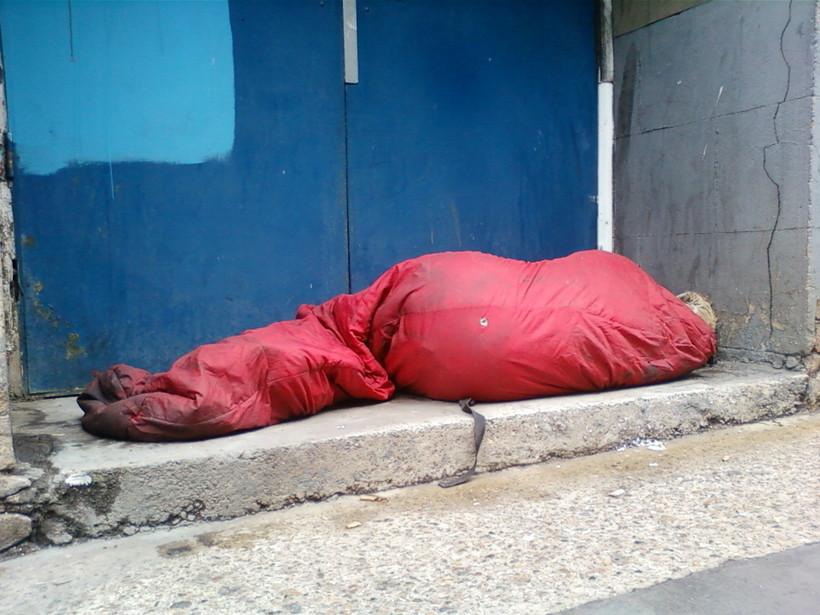 homeless sleeper