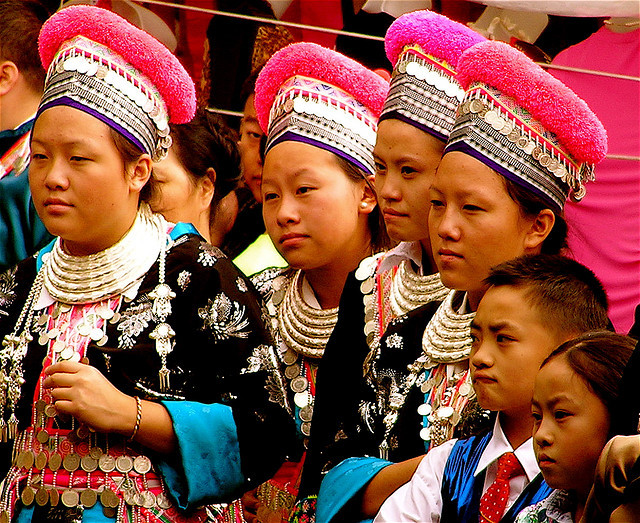 Hmong youth in traditional dress