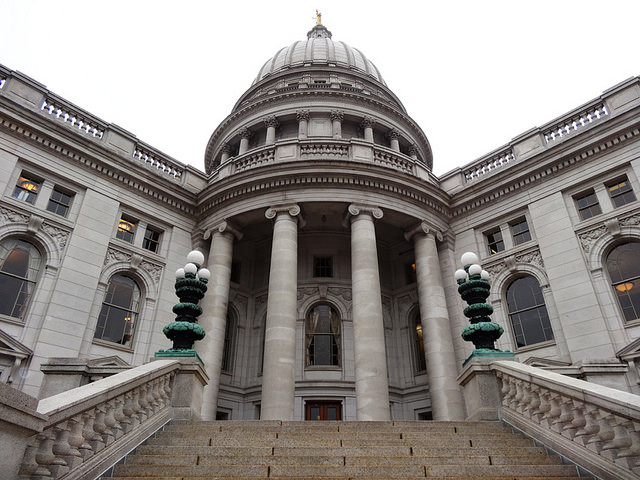 Wisconsin capitol building in Madison