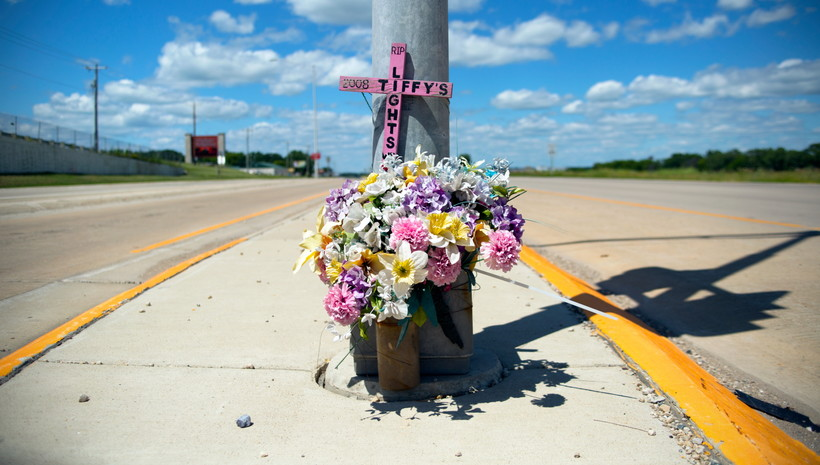 Thomas Ferrella, roadside memorials, Tiffany Dutcher