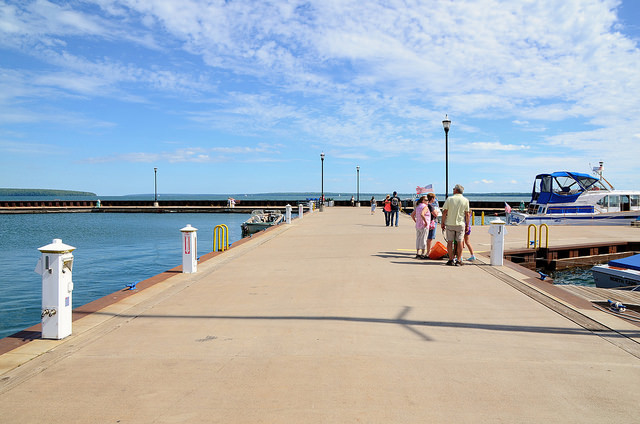 pier in Bayfield, Wisconsin
