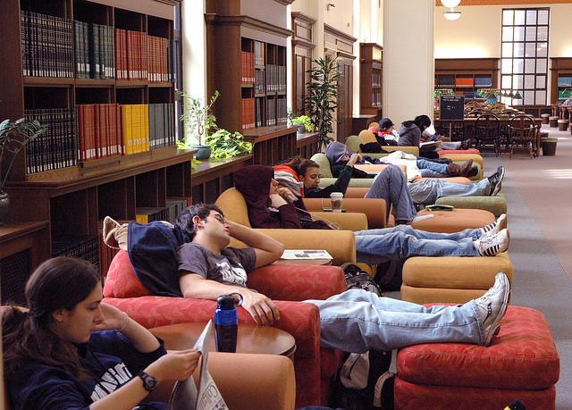 college students sleeping