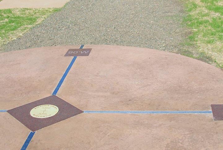 45, 90, latitude, longitude, Wausau, Marathon County, equator, meridian, Barrett