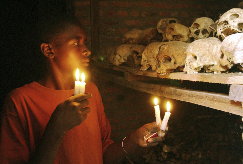 A survivor from the 1994 Rwandan Genocide