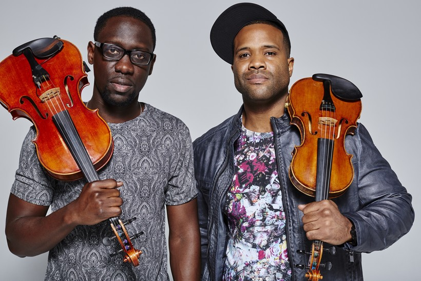 """Wil """"Wil B"""" Baptiste and violinist Kevin """"Kev Marcus"""" Sylvester"""