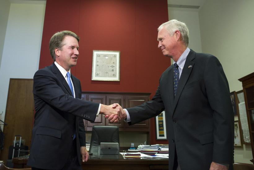 Supreme Court nominee Brett Kavanaugh and Wisconsin Sen. Ron Johnson
