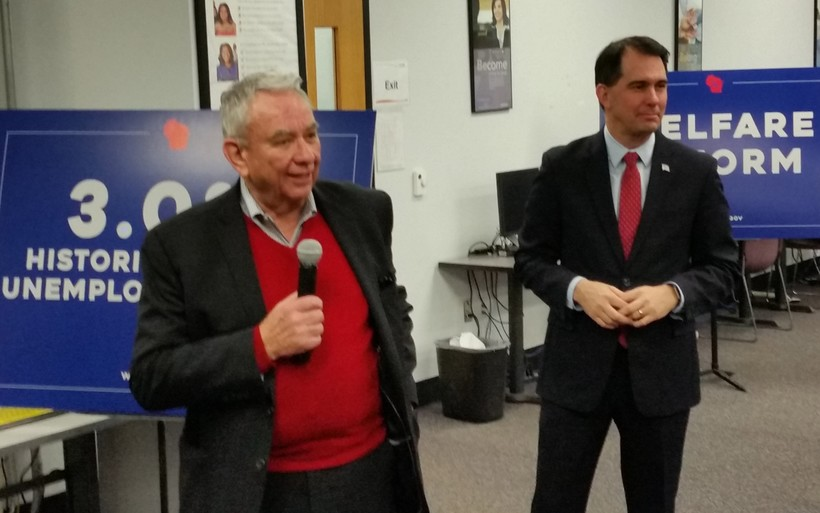 Scott Walker, Tommy Thompson