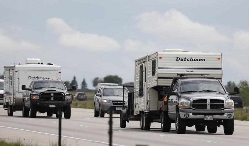 Motorists on highway