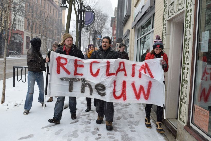UW students marching