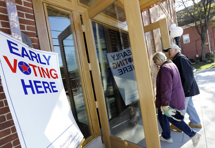 Early voting signs