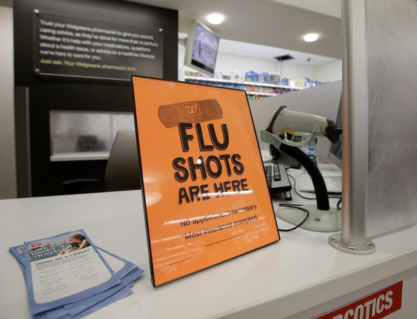 Flu shots sign