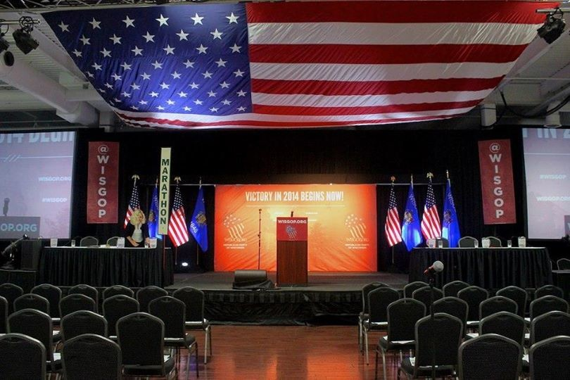 Republican Party of Wisconsin convention stage
