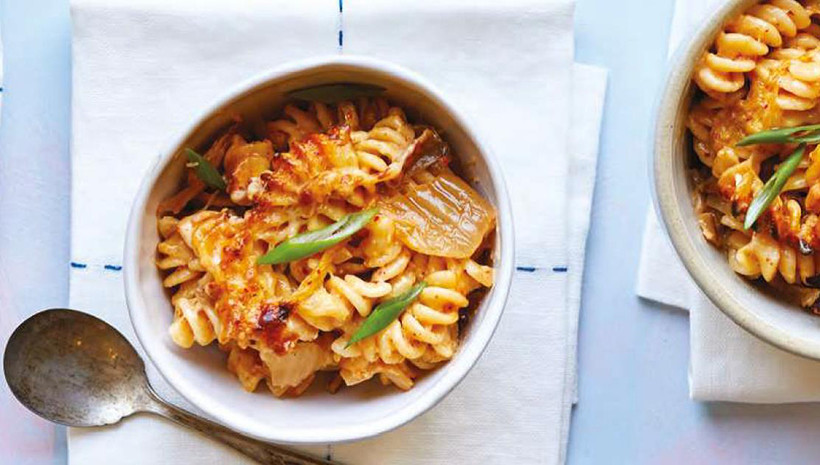 Kimchi mac and cheese