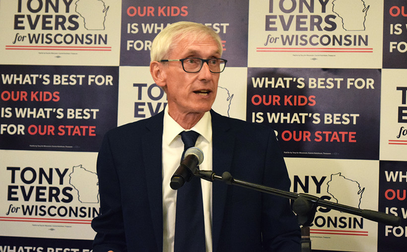 Tony Evers, gubernatorial campaign, Premier Park Hotel, Madison, governor, state superintendent, DPI, primary election