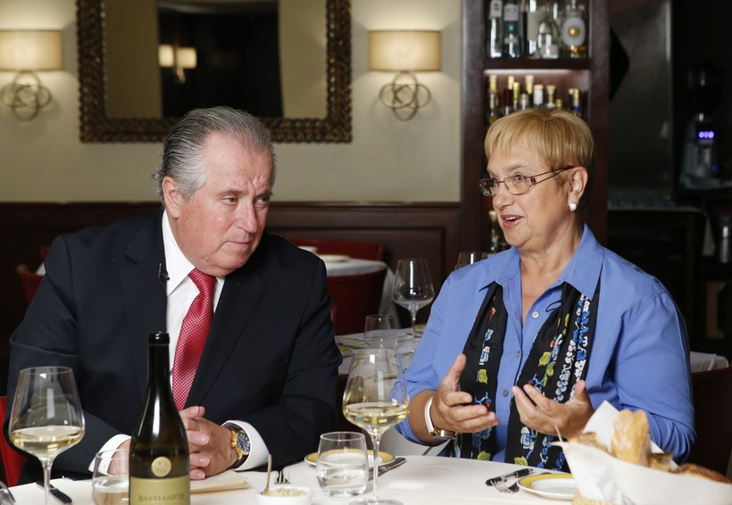 Restaurateur Angelo Vivolo, left, joins Felidia owner Lidia Bastianich