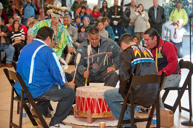 Menominee Nation of Wisconsin drummers