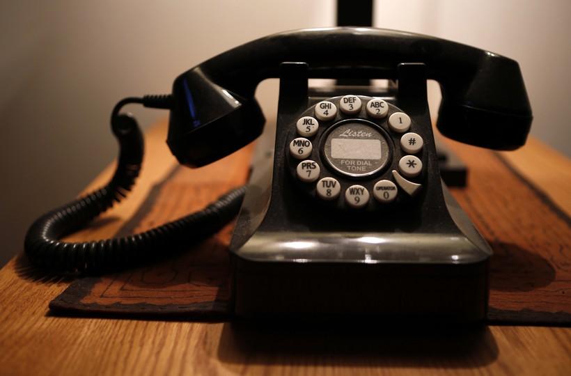Push-button landline phone
