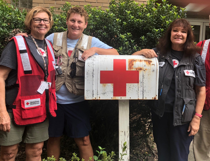 June Shakhashiri, Brenda Haney, Judy Giacomino, Middleton, Hurricane Florence, North Carolina, Red Cross