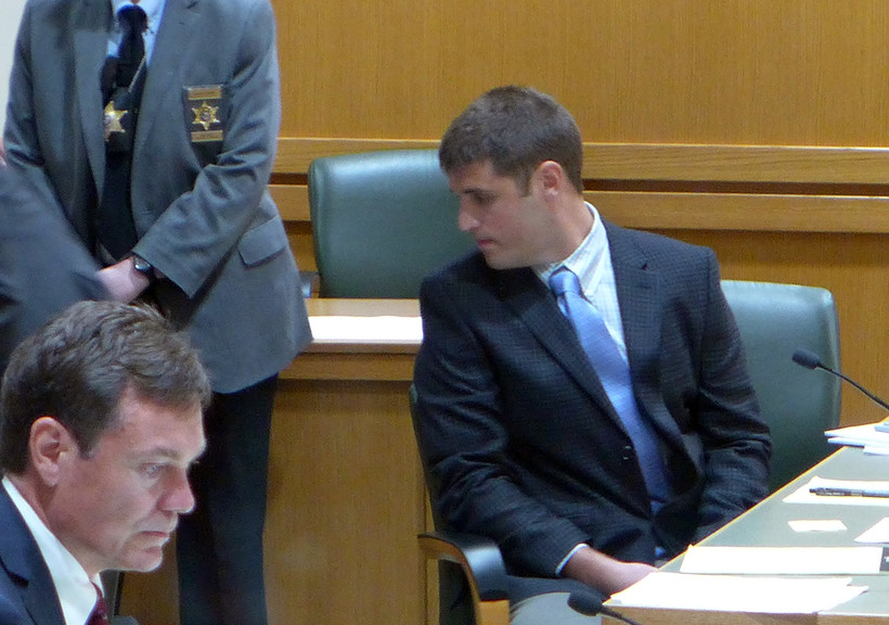 Alec Cook at sentencing hearing