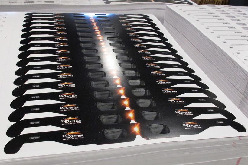 Cardboard frames for solar eclipse glasses