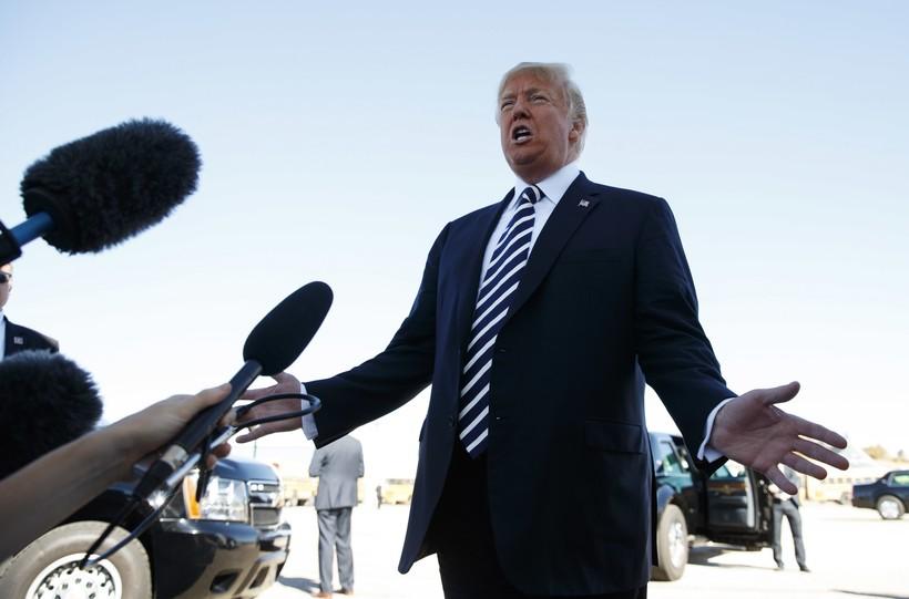 President Donald Trump in Elko, Nev.