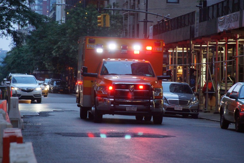Ambulance during emergency