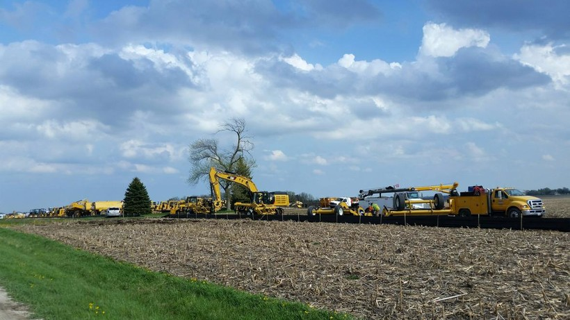 More construction equipment has arrived at the Foxconn site in the Village of Mount Pleasant.