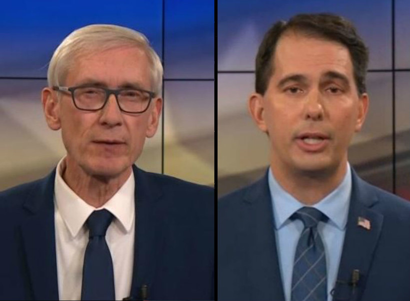 Scott Walker, Tony Evers, debate, October 2018