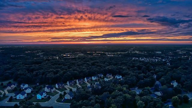 Suburban neighborhood in Virginia