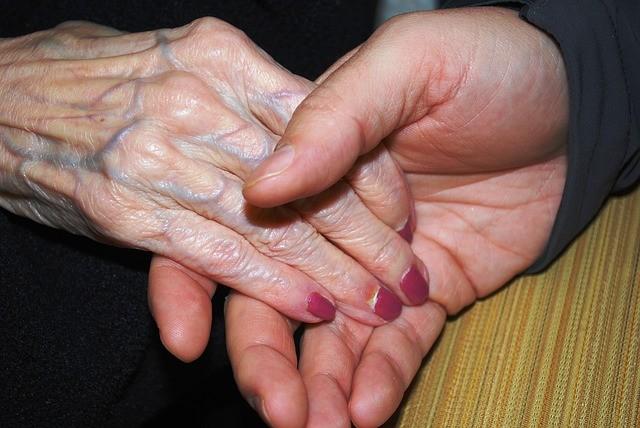 holding hands, elderly, love, caring, comfort