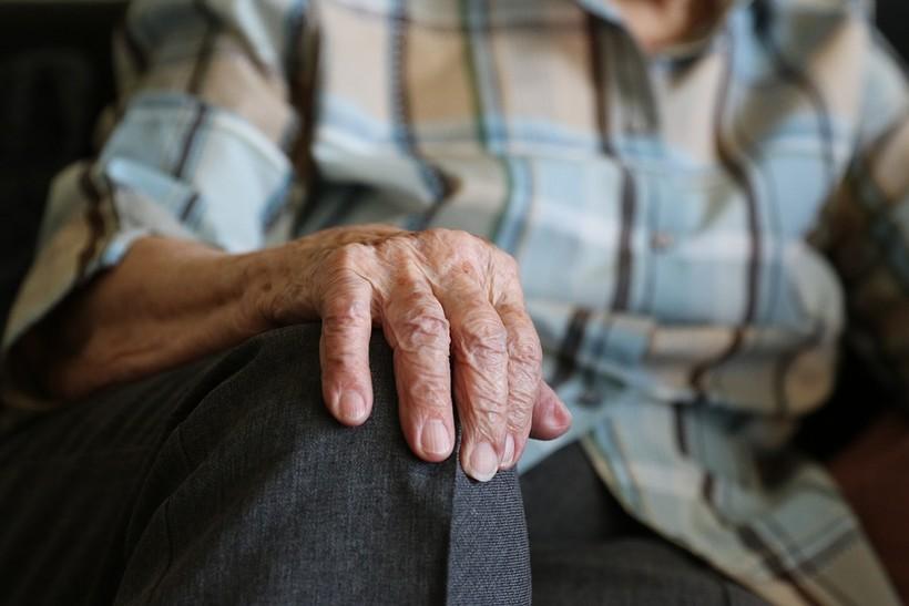 elder person's hand