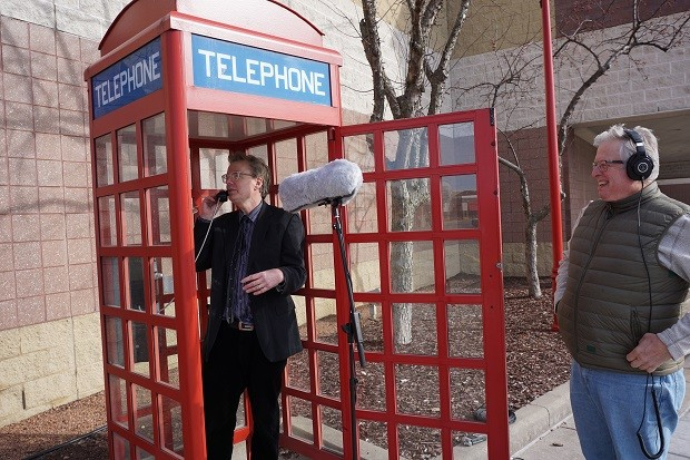 BETA host Doug Gordon finds a phone booth