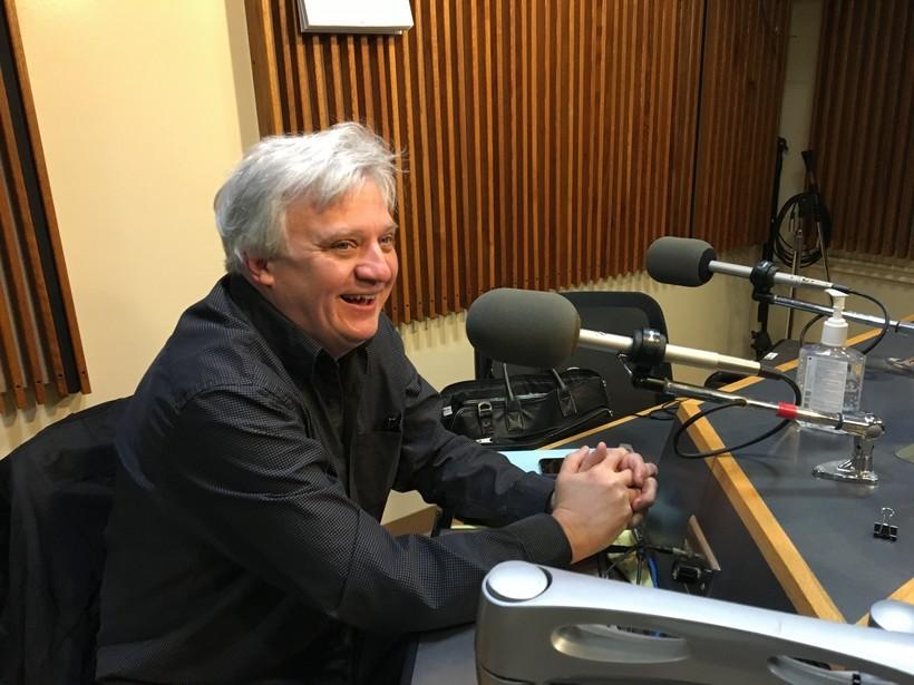 Photo of Trevor Stephenson in the WPR studios