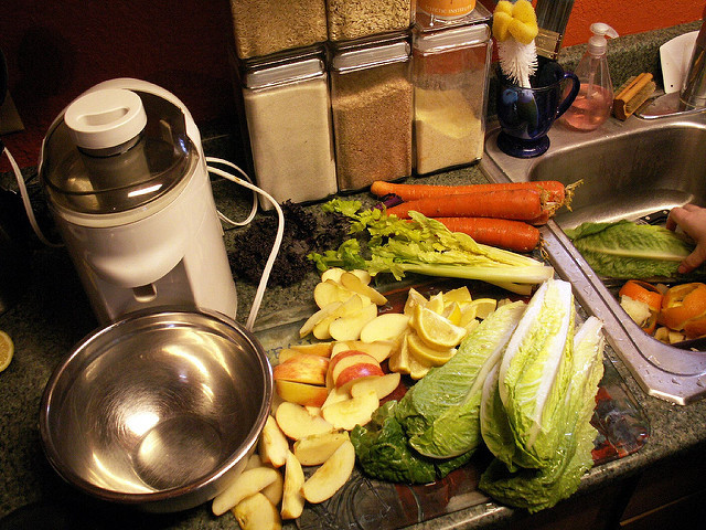 Fruits and vegetables for juicing