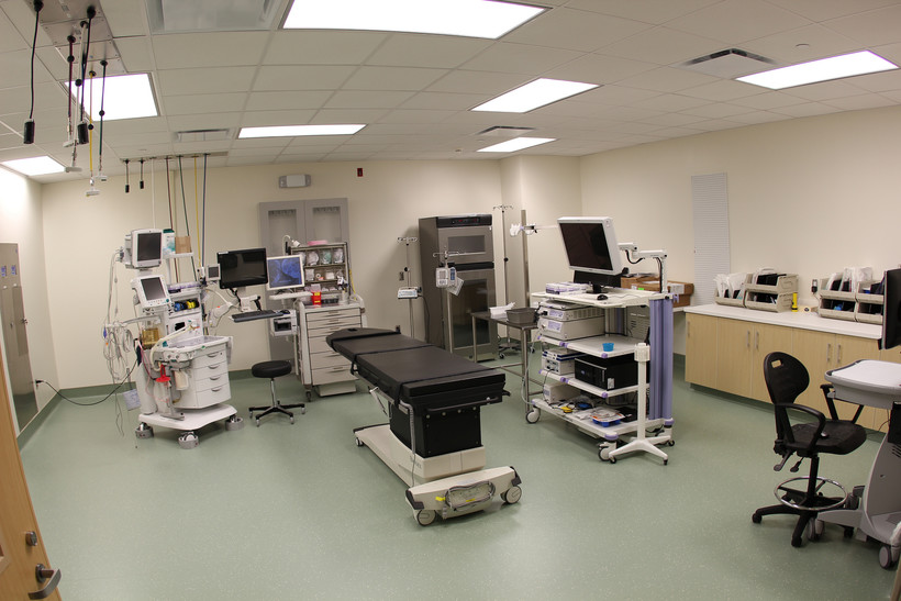 Hospital examining room