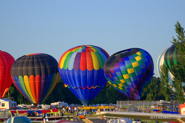 Hot air balloons at EAA AirVenture in Oshkosh