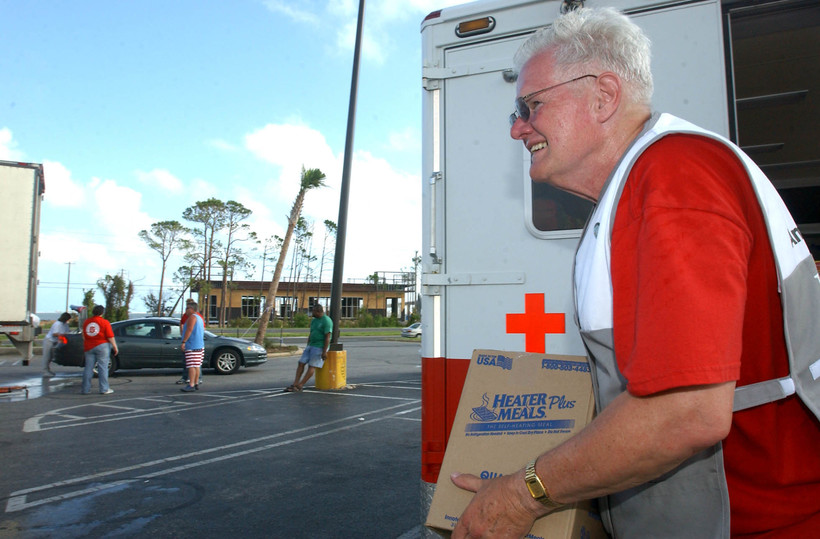 US Red Cross worker, Hurricane Dennis