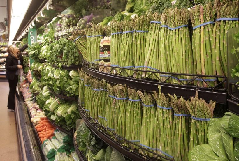 Supermarket Vegetables Food Asparagus Carrots Grocery