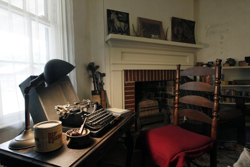 William Faulkner's typewriter on his writing desk
