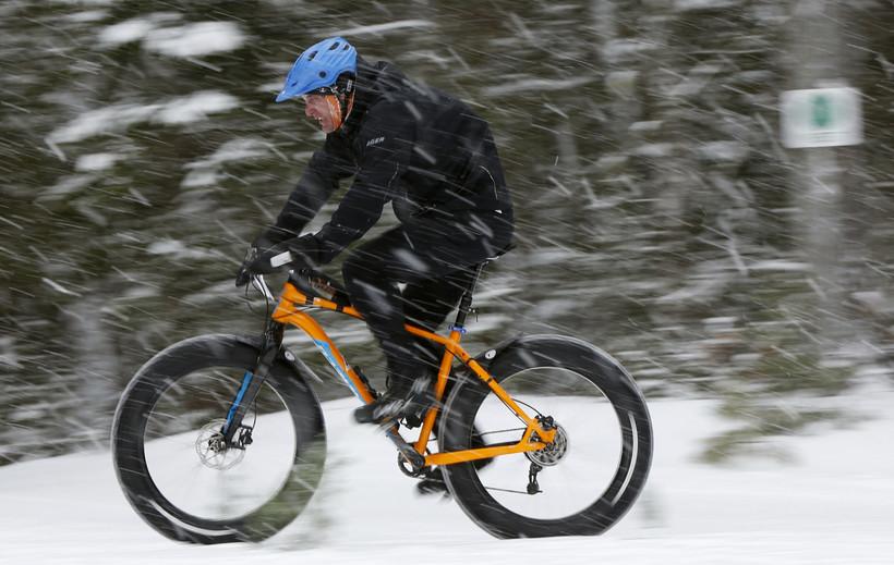 Fat Tire Bike Biking Snow Winter Sports Bicycle
