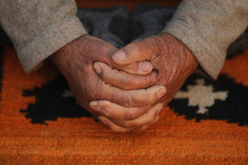 Yoga Folded Hands Old Elderly Prayer Goals Dreams